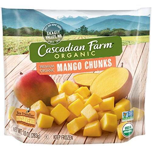 Cascadian Farm Premium Organic Mango Chunks, 10oz Bag (Frozen), Organically Farmed Frozen Fruit, Non-GMO ()