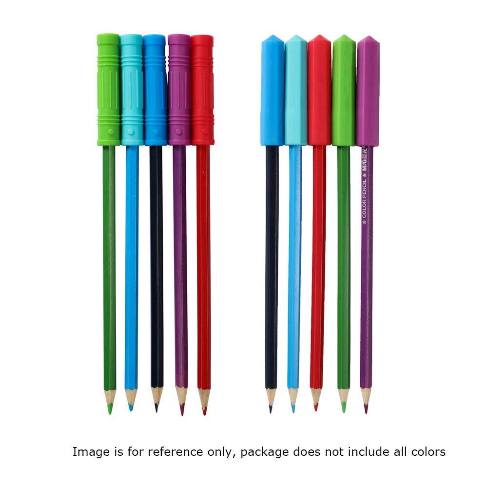 ANSUG Topper de l/ápiz Juguetes para masticar sensoriales no t/óxicos para beb/és 8 paquetes de mordedor de silicona ansiedad mordeduras para aliviar la dentici/ón