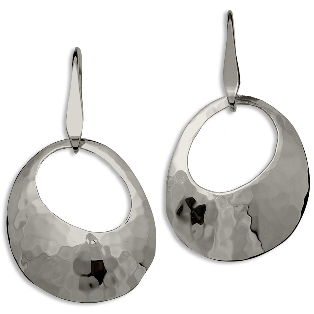 Ed Levin, Olive Earrings, .925 Sterling Silver