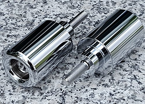 i5 CHROME FRAME SLIDERS for Honda CBR929RR CBR954RR CBR929 CBR954 CBR 929 954 RR 929RR 954RR 2000-2003 ()