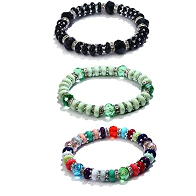 100% de qualité marque populaire les clients d'abord Soleebee 3pcs Bracelet perles pour Femme en élastique en ...
