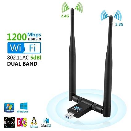 Anbaituor Adaptador USB WiFi, 1200 Mbps WiFi Dongle, USB 3.0 ...
