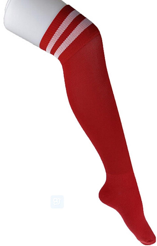 Demarkt Men's Long Cotton Football Socks Soccer Stockings Sport Socks Over Knees