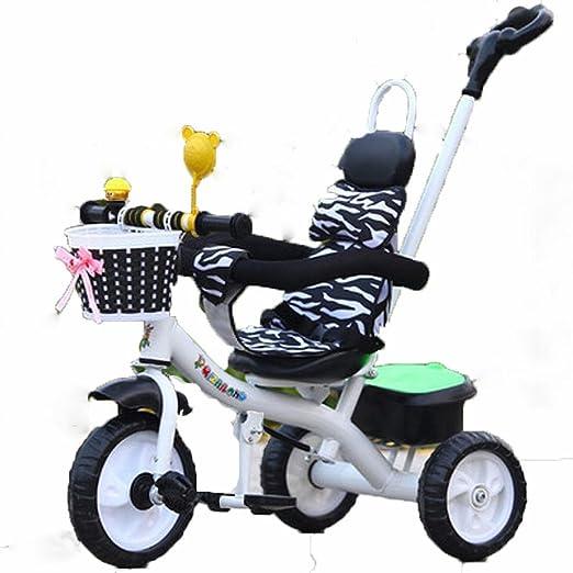 YC Cochecito de Bebé con Barandillas Bicicleta de Tres Ruedas para ...