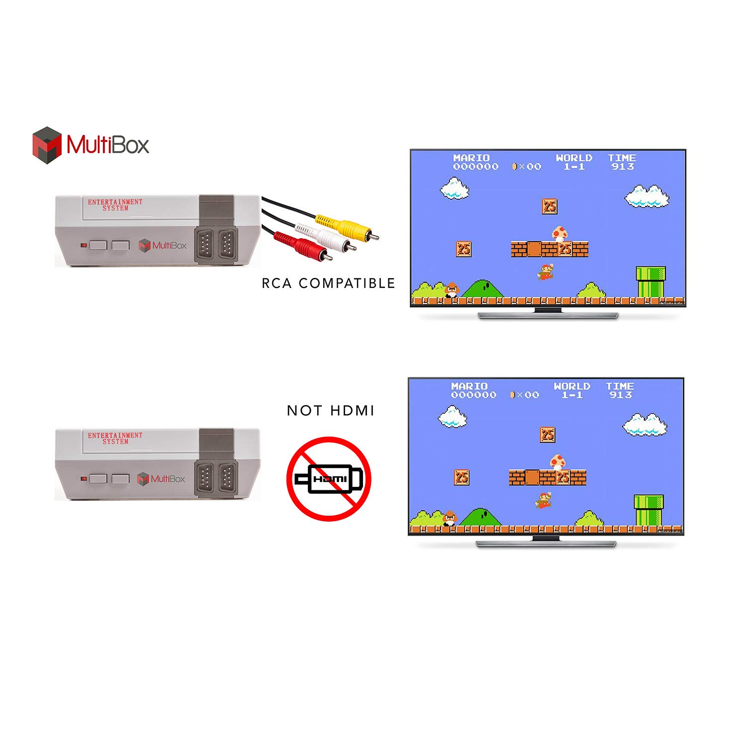 BEST BOX Classic Game Console Retro Childhood Game Classic Game Consoles Built-in 620 Childhood Classic Game Dual Control 8-Bit Console Handheld Game Player Console for Classic Games Family TV Video by BEST BOX (Image #6)