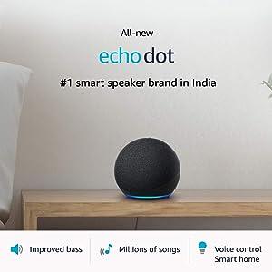 All-new Echo Dot (4th Gen)   #1 smart speaker brand in India with Alexa (Black)