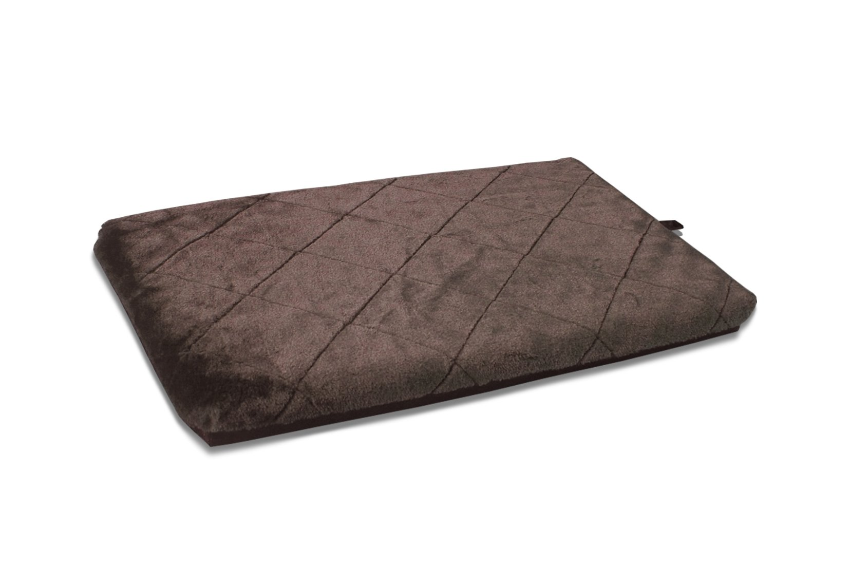 FurHaven Orthopedic Faux Fur Pet Mattress for Crates and Kennels, Espresso, Large