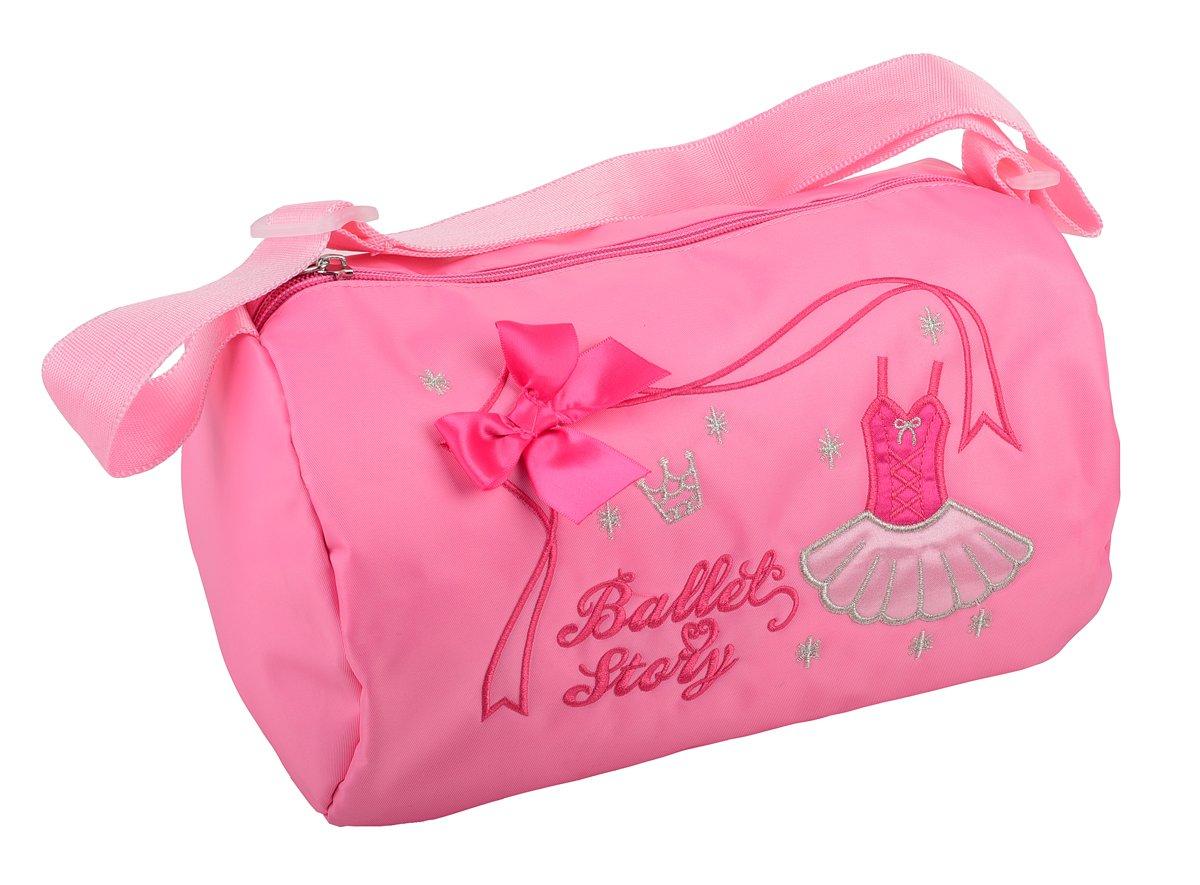 Dressy Daisy Girls Embroideries Waterproof Barrel Ballet Dance Bag Hand Bag Shoulder Bag Duffle Bag Pink