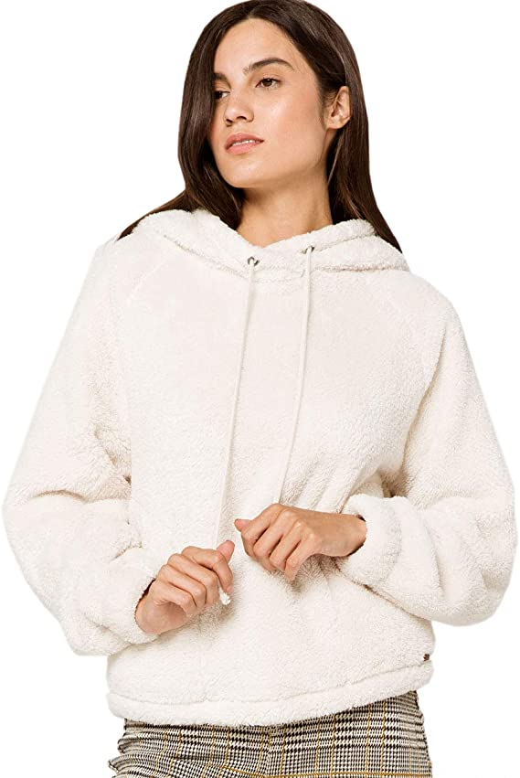 TDYUS DesignName Womens Warmth Black Hoody With Pocket
