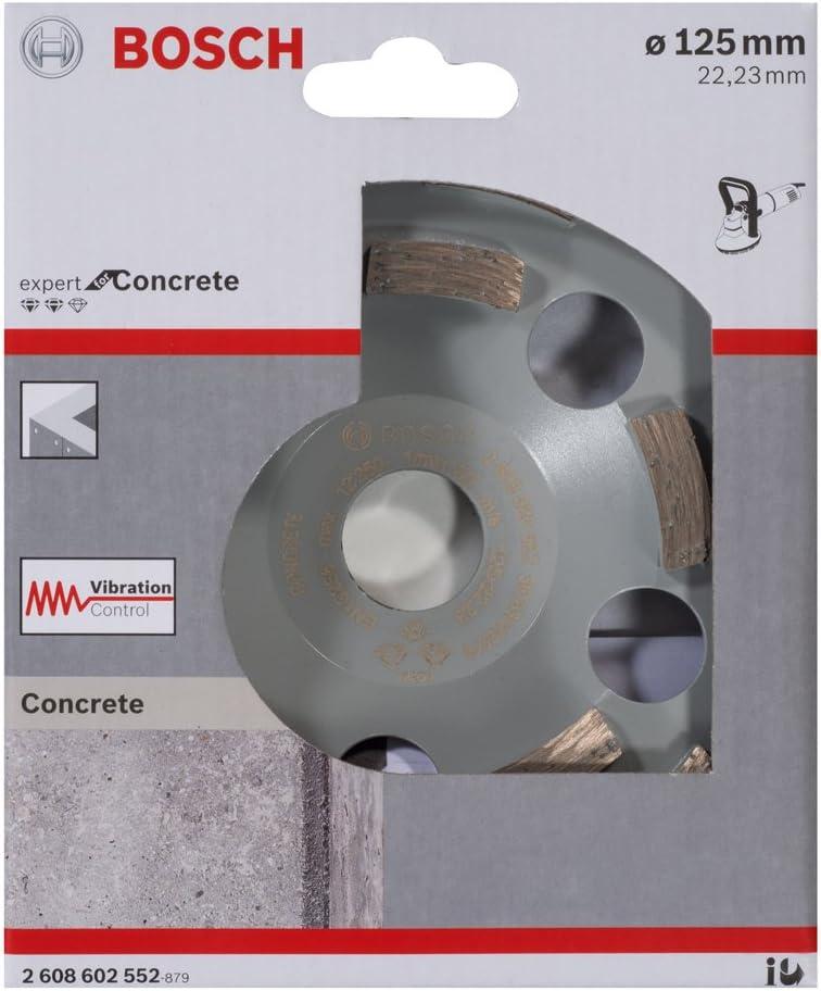 Bosch Professional 2608602552 Diamond Grinding Head Expert for Concrete 125 x 22.23 x 4.5 mm Grey