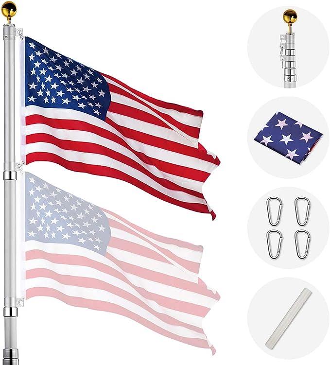 Details about  /2pcs 3.94FT//1.2M,Telescopic Handheld Flagpoles,Telescopic Guide Flag Pole,Orange