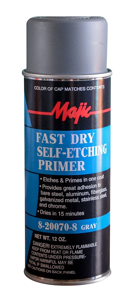 Majic Paints 8-20070-8 Self Etching Primer Spray, Aerosol, Gray