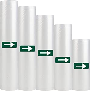 Vacuum Sealer Bags Rolls for Food Storage Saver Heavy Duty Sous Vide Cooking Bags Commercial Grade Bag 5 rolls 6