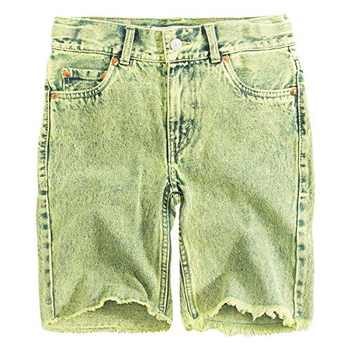 Levi's Big Boys' 511 Slim Fit Denim Shorts, Green Glow,12