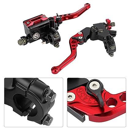 KKmoon 7//8  22mm Embrague Hidr/áulico Moto,Palancas de Embrague de Freno de Dep/ósito Cilindro Maestro Universal Ajustable