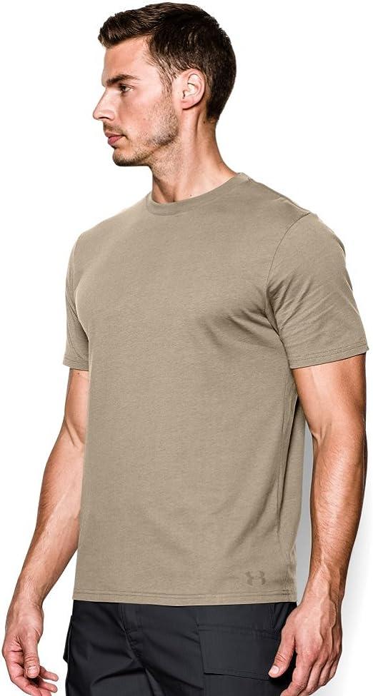 Under Armour Herren Charged Cotton Tactical T Shirt Tactical Charged Cotton Tee Regular Heatgear Baumarkt