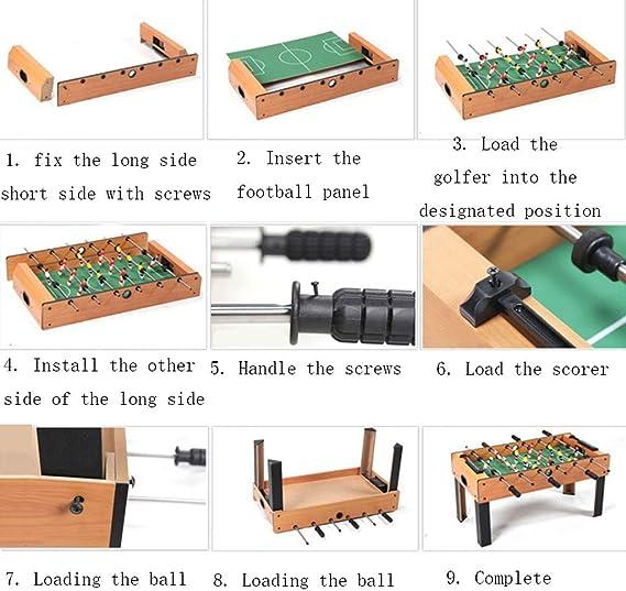 LiPengTaoShop Futbolín Mesa De Fútbol para El Hogar para Niños De Escritorio Pequeña Mini Máquina De Fútbol para Niños Creativos Regalo De Cumpleaños 6 Mesa Mesa De Fútbol: Amazon.es: Hogar