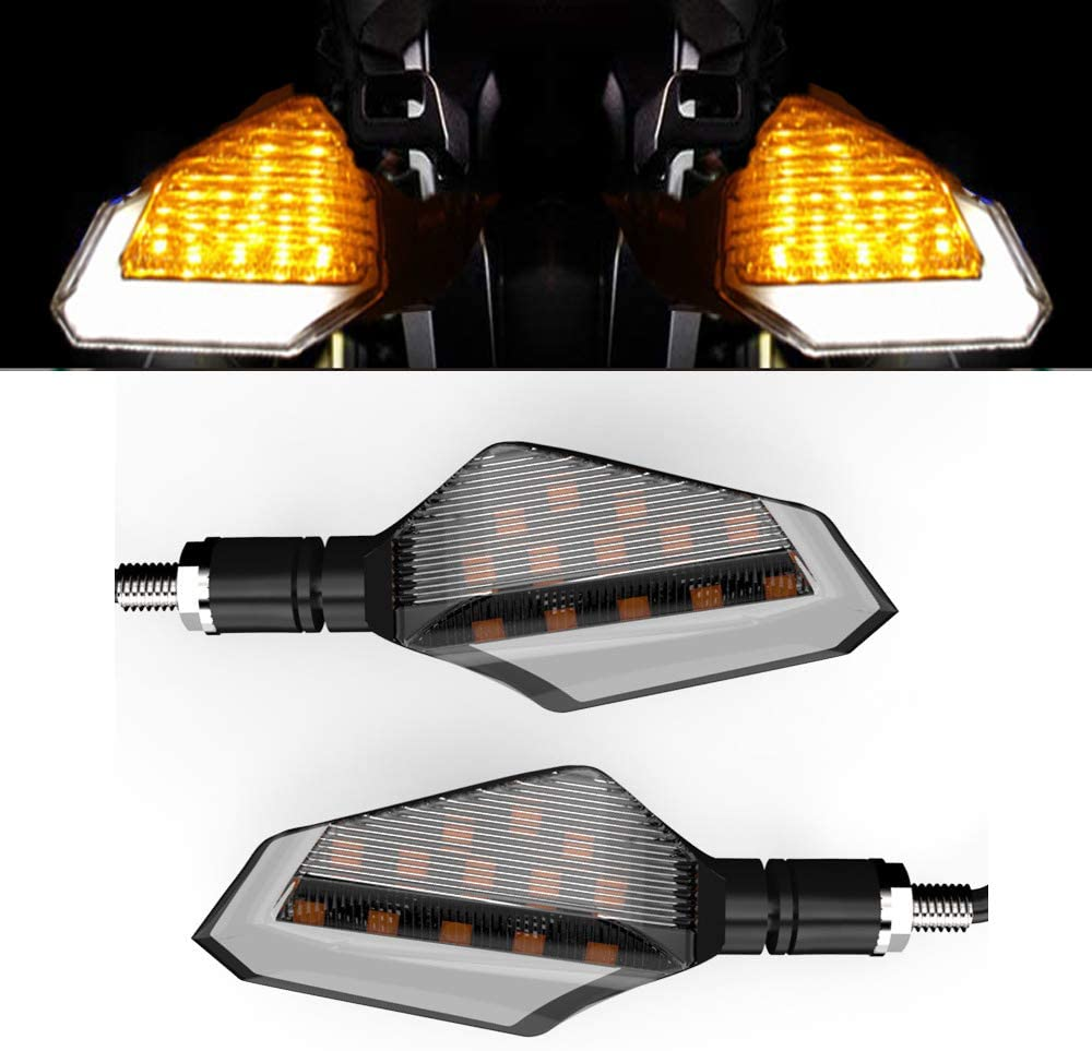 2Pcs Retro Brake Blinker Lights Indicators Lamp 3 Wire Bulb Indicators Bobber Turn Signals for Cruiser Chopper and other motorcycles with 10mm Holes Fairing Motorcycle Turn Signals Light
