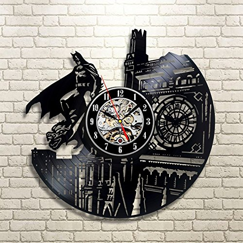 Vinyl Evolution Batman Dark Knight Wall Clock Black