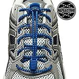 LOCK LACES Reflective (Elastic No Tie Shoelaces)