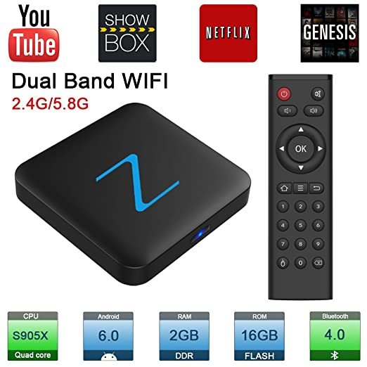 190 opinioni per Zenopllige Z11 PRO Android TV BOX 2.4G/5G Wifi 2G/16G 4K HD Android 6.0