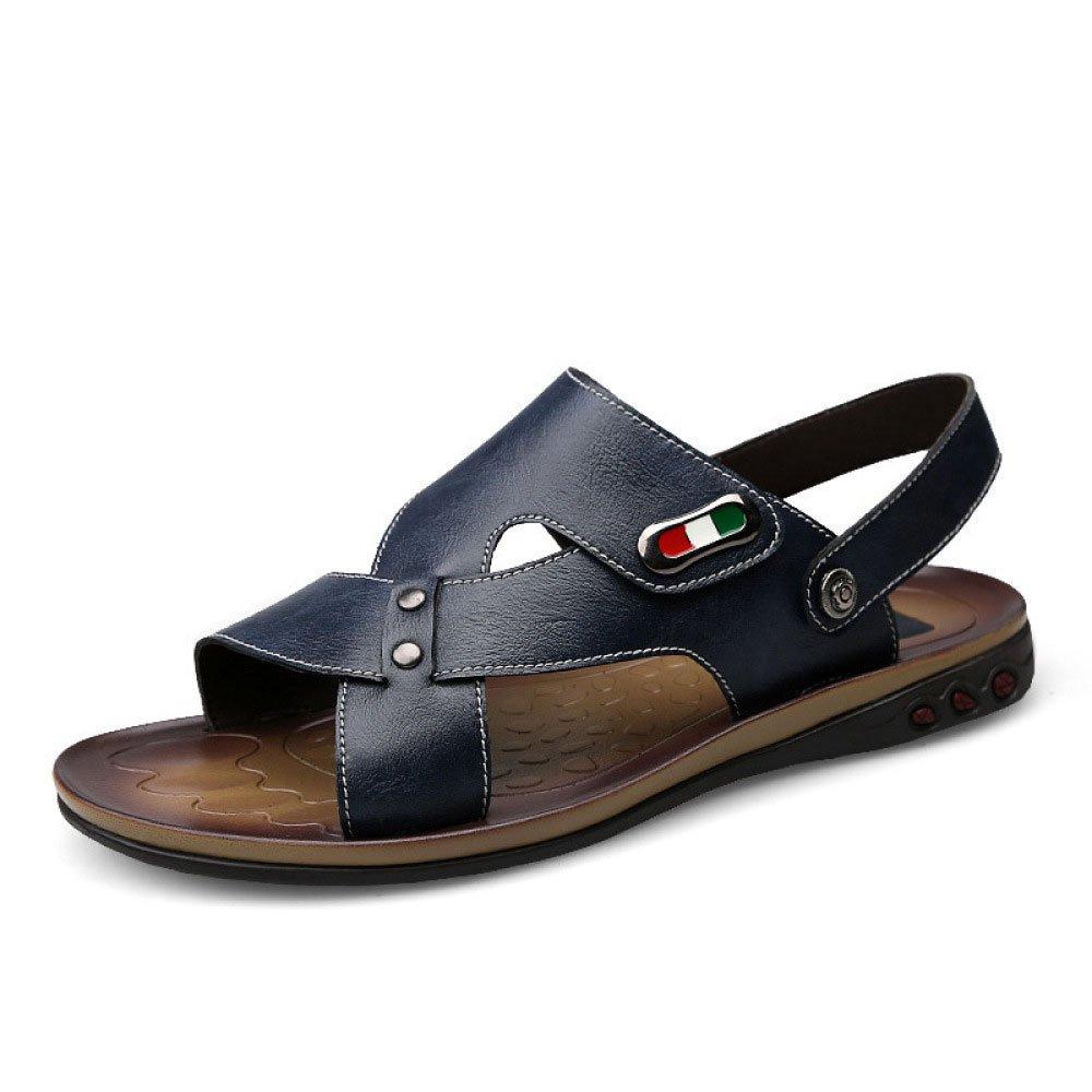 Sandalias Respirables De Verano Zapatos De Playa Impermeables Ocasionales De Los Hombres 46 EU Blue