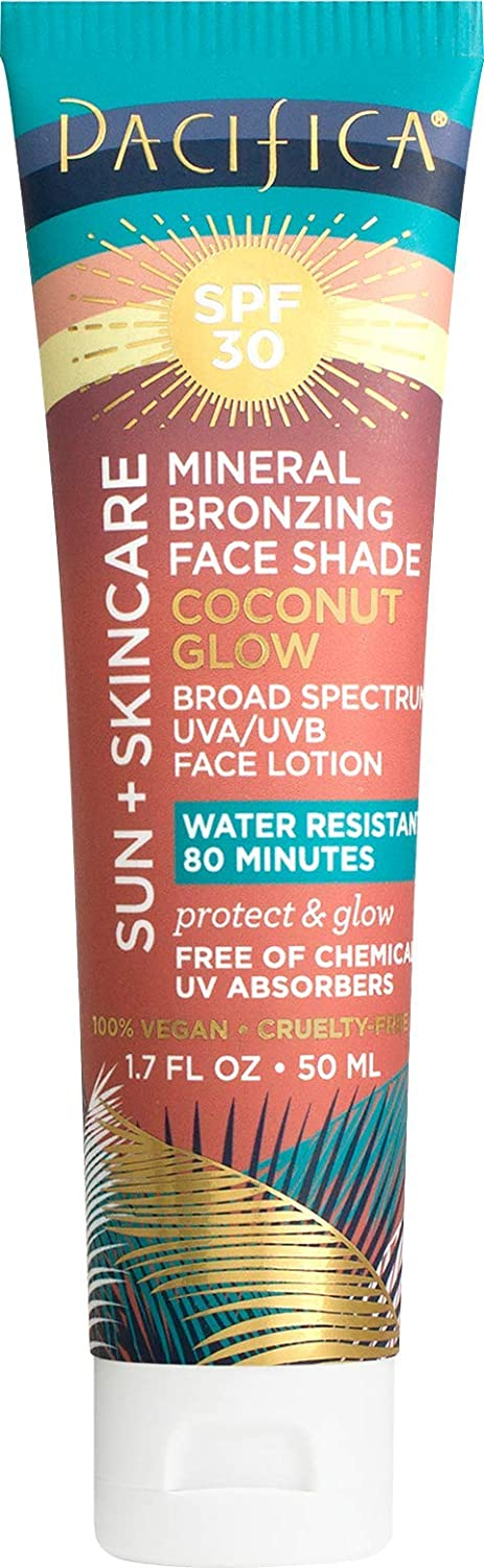 Pacifica Sun + skincare mineral bronzing face shade coconut glow spf 30, 1.7 Fl Ounce : Beauty