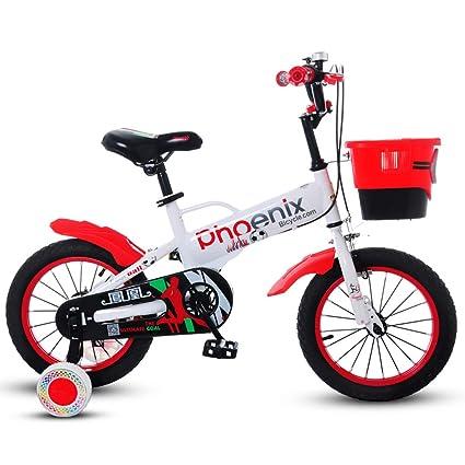 Bicicletas para niños JCOCO 2-4-6 años 18 Pulgadas Bicicleta para bebés Silla