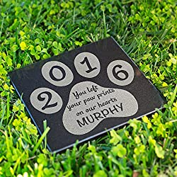 Personalized Dog Memorial Customized Dog Grave Marker Custom Headstone - DSG#6 - Aged Granite