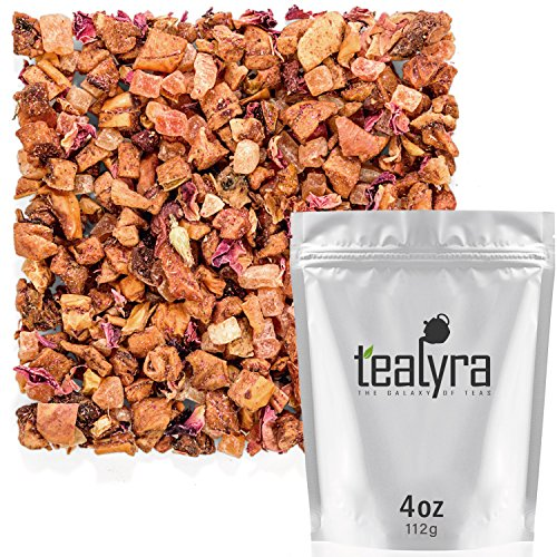Tealyra - Sparkling Wine - Strawberries - Apple - Fruity Loose Leaf Tea - Hot and Iced Drink - Vitamins and Antioxidants Rich - Caffeine Free - All Natural - 112g (4-ounce)
