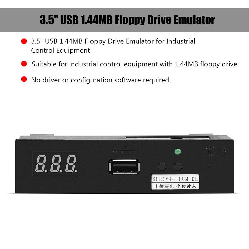 Yosoo USB Emulator, 3.5'' 1.44MB SFR1M44-FUM-DL Floppy Drive Emulator for Industrial Control Equipment by Yosoo (Image #2)