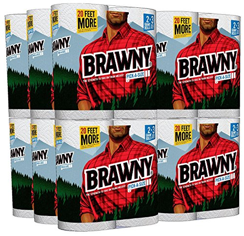 Brawny Pick a Size lJCaFu Paper Towels, 24 Count (Pack of 4) by