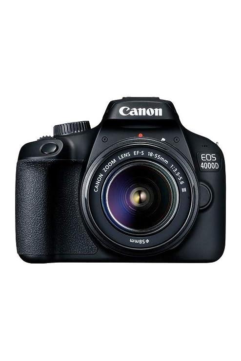 Camara Canon Reflex EOS 4000D + Objetivo EF-S 18-55 III: Amazon.es ...