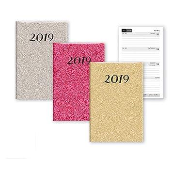 2019 - Agenda semanal con purpurina para el hogar, oficina ...