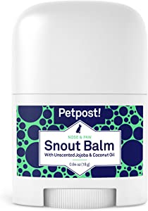 Petpost | Snout Balm for Dogs - Nourishing Snout Soother Balm Heals Dry Dog Noses with Organic Ingredients - Moisturizing Coconut Oil, Jojoba Oil, and Shea Butter