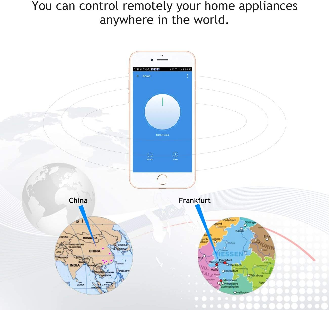 Muzili Wi-Fi smart Plug,Control your Devices from Anywhere,Energy Monitoring No Hub Required 3 /Countdown Timer,Compatible with Alexa,Google Assistant and IFTTT