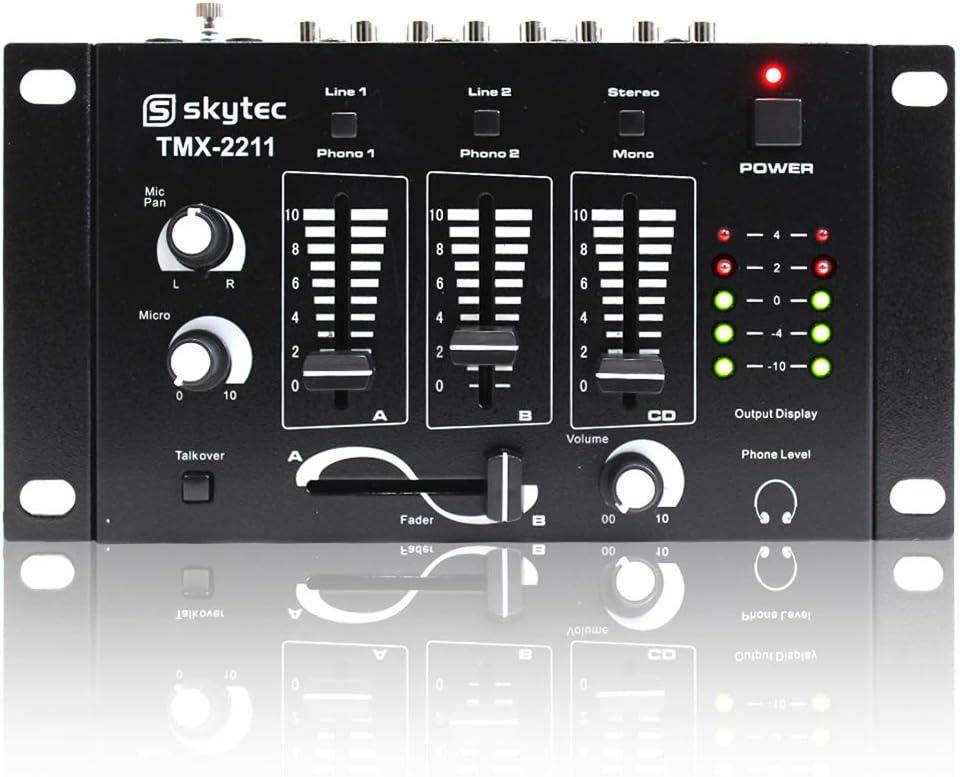 2x Max 2 x 8 Speakers Power Amplifier Mixer Bedroom DJ Disco PA Party 1600W