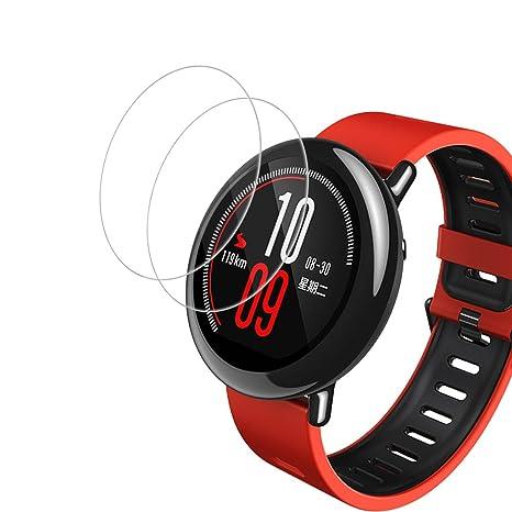Olycism Protector de Pantalla para Xiaomi Huami Amazfit Watch (2-Pack) Ajuste Perfecto