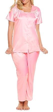 Ekouaer Women s L-4XL Sleepwear Short-Sleeve Pajama Sets Sleep Tops  ... 1e38640f6
