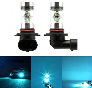 2x H7 100W LED 8000K Ice Blue Fog Light Daytime Running Bulbs Lamp Projector