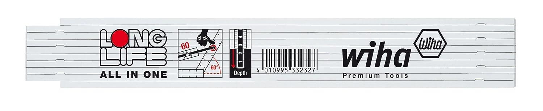 Wiha Longlife All in One - Metro plegable (2 m, sistema mé trico, 10 tablillas plegables) sistema métrico 41020072