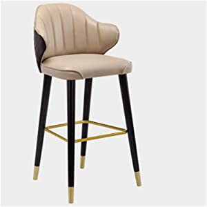 ZRSL Bar Stools, Light Luxury Modern High Chairs, Breakfast Bar Stools Thickened High-Density Sponge Pads Garden Bar Stools are Suitable for Dining Room, Living Room and Kitchen.