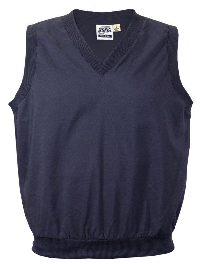 Akwa Men's V-Neck Pullover Vest Made in USA