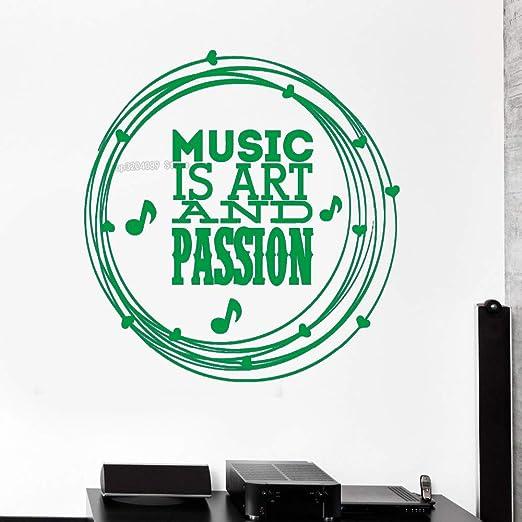 yaoxingfu Novela Calcomanías extraíbles Música Arte Mejor ...