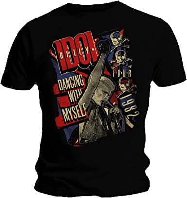 Dancing With Myself Tour Men/'s T-Shirt S-XXL Officially Licensed Billy Idol