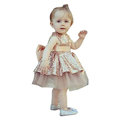 Robe de ceremonie rose pour fille