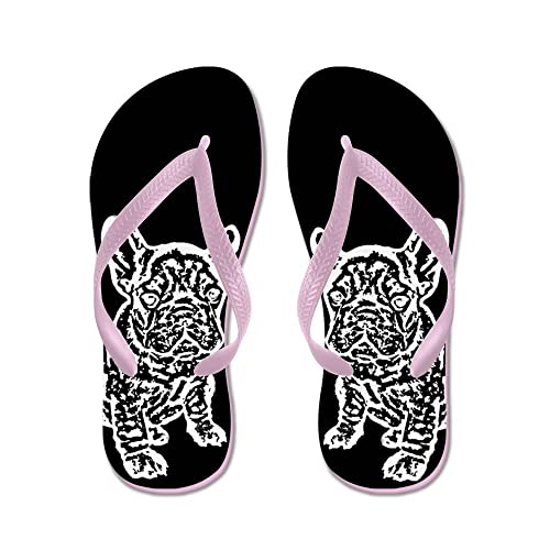 ac63c24cdd674 Image Unavailable. Image not available for. Color  CafePress - French  Bulldog - Flip Flops ...