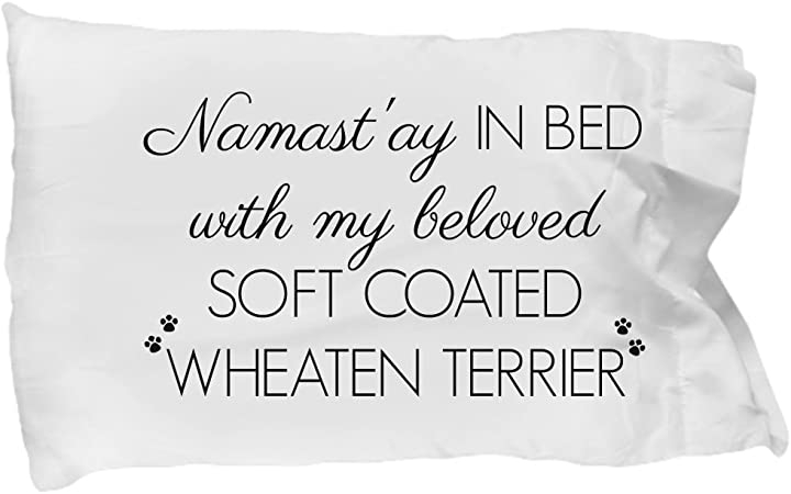 Amazon Com Soft Coated Wheaten Terrier Pillow Case Soft Coated Wheaten Terrier Accessories Cute Mom Dad Quote Pillowcase Bedding Cover Gift Stuff For Women Men Teens Girls Dog Lovers 20 X