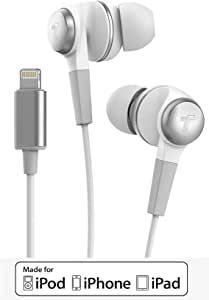 Thore iPhone Headphones for iPhone 11/Pro Max Earphones (Apple MFi Certified) Wired in-Ear Lightning Earbuds with Mic (for iPhone Xr/X Max/X/ 7/8 Plus) - V120 White