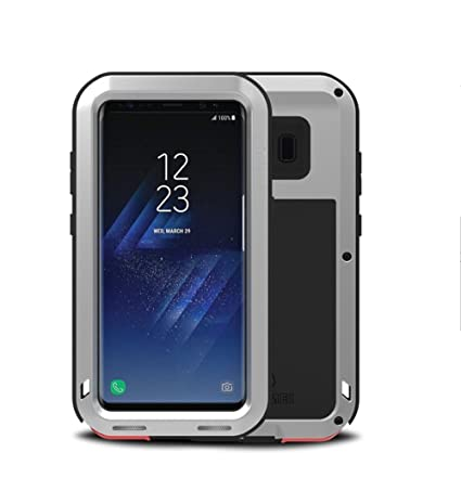 buy online 475f8 54437 Samsung Galaxy S8 Plus Aluminum Case, Love Mei Heavy Duty Armor Tank  Extreme Shockproof Dust/Dirt Proof Aluminum Metal Case Cover for Samsung  Galaxy ...